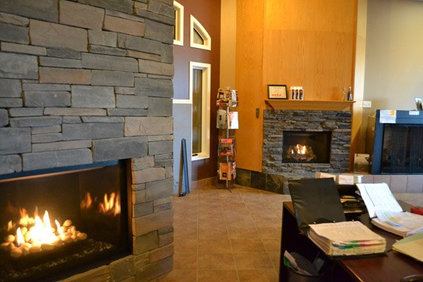 Marquis collection showroom model at Alberta Wholesale Fireplaces