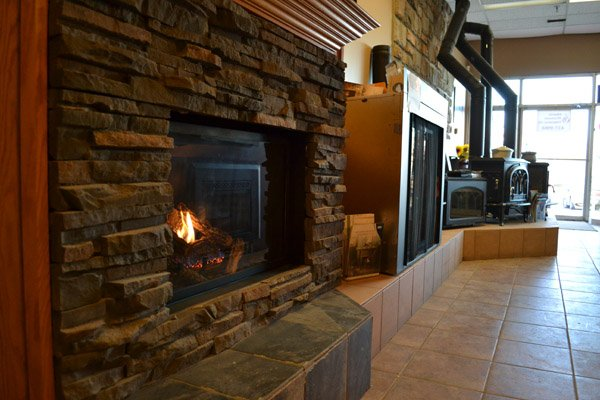 Ortal showroom model in Alberta Wholesale Fireplaces