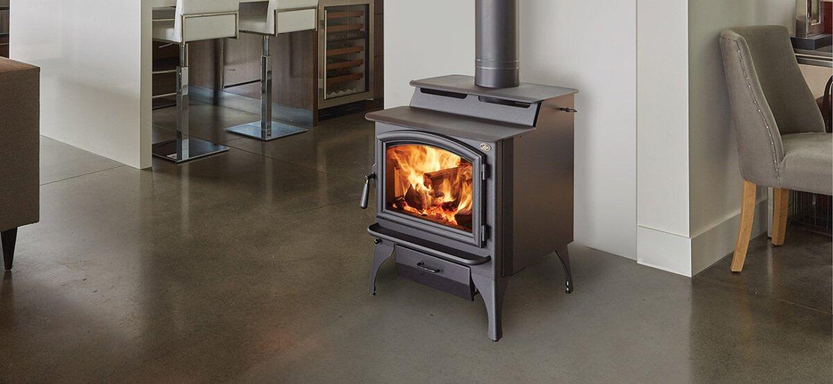 Lopi Stoves matte black Endeavor Bainbridge stove