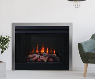 Superior Fireplaces ERT 3036 Electric Insert in silver