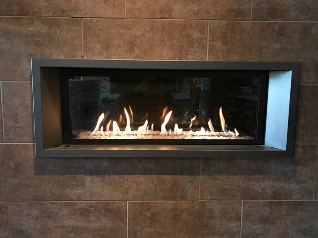 Ortal infinite fireplace installed by Alberta Wholesale Fireplaces