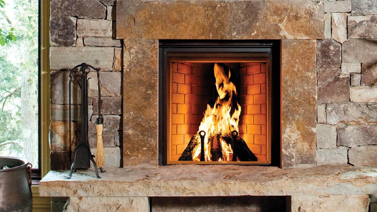 Renaissance Rumford wood inset fireplace